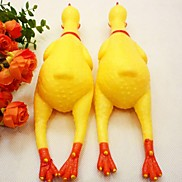 Screaming Chicken Style Rubber Toy for Dogs (L)