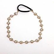 Fashion Gold Brass Rhinestone Headbands For Children(Gold)(1Pc)