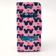 Love Pattern PU Leather Full Body Case with Stand for iPhone 5/5S