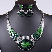 Fashion Colorful Oildrip  Alloy (Necklaces&Earrings&) Gemstone Jewelry Sets(More Color)