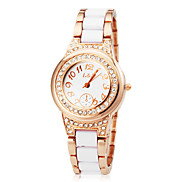 Women's Quartz Band Sparkle White Brand