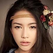 Fashion Handmade Clorful Beads Camel Leather Headbands(1 Pc)