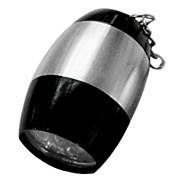 Round 6 Lamp LED 1 Mode Flashlight Keychain Lights (80 LM 2X2032 Black)