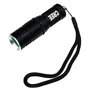 ZHISHUNJIA   3-Mode 1xCree XM-L T6 White Light Flashlight with Strap - (900LM,1 x 16340,Black)