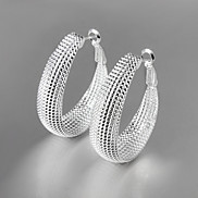 Earring Drop Earrings / Hoop Earrings Jewelry Women Titanium Steel 2pcs Silver