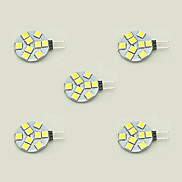 1.5W LED Doppel-Pin Leuchten T 9 SMD 5050 148 lm Warmes Weiß Weiß DC 12 V 5 Stück