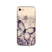 Case for iPhone 7 Plus 7 Cover Transparent Pattern Back Cover Case Butterfly Soft TPU for Apple iPhone 6s plus 6 Plus 6s 6 SE 5s 5c 5 4s 4