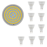 10pcs 80LEDs SMD2835 5W LED Spotlight GU10/MR16(GU5.3)/E27 400lm Warm White Cool White Decorative Lampada LED Bulb AC220-240V
