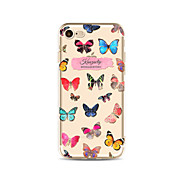 Case for iPhone 7 Plus 7 Cover Transparent Pattern Back Cover Case Word/Phrase Butterfly Soft TPU for Apple iPhone 6s plus 6 Plus 6s 6 SE 5s 5c 5 4s 4