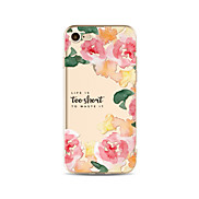 Case for iPhone 7 Plus 7 Cover Transparent Pattern Back Cover Case Flower Soft TPU for iPhone 6s plus 6 Plus 6s 6 SE 5s 5c 5 4s 4