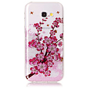 Case For Samsung Galaxy A5(2017) A3(2017) Phone Case TPU Material IMD Process Plum Blossom Pattern HD Flash Powder Phone Case