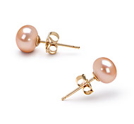 14k or rose 6.5 - 7mm aaa perle d'eau douce (dszz067)