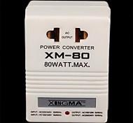 110V ~ 220V Transformador bidirecional AC adaptador (máximo de 80 watts)