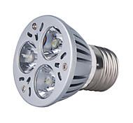 Focos PAR E26/E27 3 W 3 LED de Alta Potencia 270 LM 3000K K Blanco Cálido AC 85-265 V