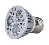 Spot Blanc Chaud MR16 E26/E27 3 W 3 LED Haute Puissance 270 LM AC 85-265 V