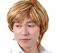 Capless Short High Quality Synthetic Blonde Straight Men Hair Wig 0463-460