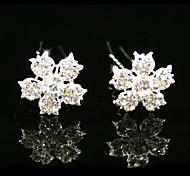 magníficos diamantes de imitación boda nupcial pines / flores, 2 piezas