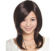 Capless Medium Length High Quality Synthetic Golden Brown Straight Hair Wig