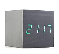 Holz dekorative Desktop-Uhr schwarz