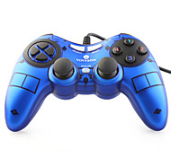 VINYSON USB Wired Dual-Shock Gaming Controller for PC (Blue)