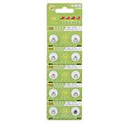 AG4 377A 1.55v haute capacité alcalines piles boutons (10-pack)