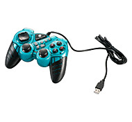 VINYSON USB 2.0 Wired Double-Shock 2 Gaming Controller for PC (Green)