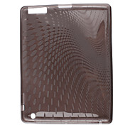 Clear Silion Case with Points Print for iPad 2 (Grey)