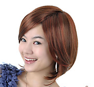 Capless Medium Length High Quality Synthetic Nature Look Golden Brown Bob Style Hair Wig