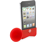 Lautsprecher Horn stehen Halterung für iphone 4 (rot)
