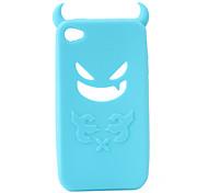 diavolo di protezione in gel di silice per caso iphone4 - azzurro