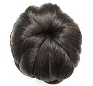 rizada peluca sintética color marrón pan