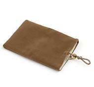 celular de moda bolsa de terciopelo para el iPhone (marrón claro)