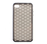 Protective Soft Silica Gel Transparent Case for iPhone4G (Black)