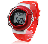 Unisex Calorie Counter Pulse Heart Rate Monitor Digital Wrist Watch (Red) Cool Watch Unique Watch