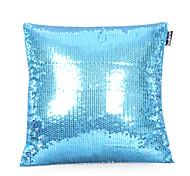 Наволочка для подушки, с бисером (синий)