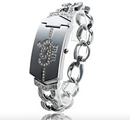 Fashionable Women's PC Quartz Bracelet Watch with Silvery Alloy Band