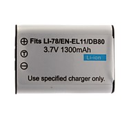 1300mAh 3.7V Digital Camera Battery EN-EL11(60B) for NIKON Coolpix S550 and More