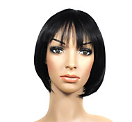 Capless Short Black High Quality Synthetic Beautiful Hair Wig