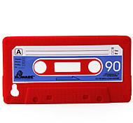 Protective Unique Cassette Soft Case for iPhone 4 (Red)