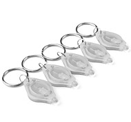 Focused LED Flashlight Keychain White (5-Keychain)