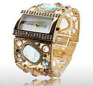 Amazing Women's Golden Bracelet Watch with Graceful Multi Color Diamond Decoration Cool Watches Unique Watches Fashion Watch
