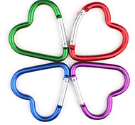 Heart-shaped Aluminium Carabiner (Random Color)