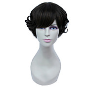 Capless Short High Temperature Wire Brown Lovely Curly Hair Wig