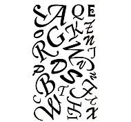 5 pezzi in inglese lettere impermeabile tatuaggio temporaneo (17,5 centimetri * 10cm)