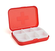 6-Compartment Pill/Trinket Case for Travellers