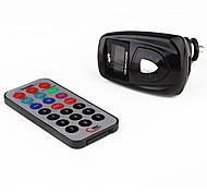"1.0"" LCD Car MP3 Player FM Transmitter - Black (SD/TF/USB)"
