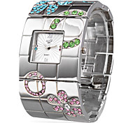 Silver Fashion Steel Bangle Women's Watch