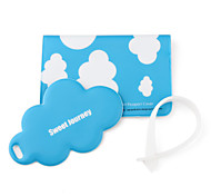 Passport Case And Travel Tag (White Cloud)