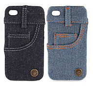 Jeans Cover Hard Case for iPhone 4 / 4S (Side Pocket)