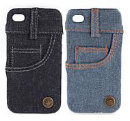 Jeans Cover Hülle für das iPhone 4 / 4s (Seitentasche)